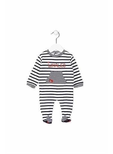 Losan New Born Çizgili Erkek Çocuk Pijama Mavi